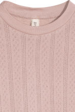 Pointelle top - Old rose - Ladies | H&M CN 4