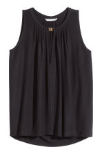Top in jersey senza maniche - Nero - DONNA | H&M IT 2