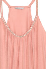 Beaded strappy top - Light pink - Ladies | H&M CN 3