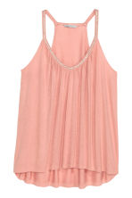 Beaded strappy top - Light pink - Ladies | H&M CN 2