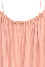 Jersey strappy top with beads - Powder pink - Ladies | H&M CN 3