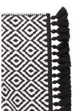 Jacquard-weave bath mat - Black/White/Patterned - Home All | H&M CN 3