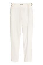 Textured trousers - White - Ladies | H&M GB 2
