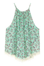 Patterned top - Green/Floral - Ladies | H&M CN 2