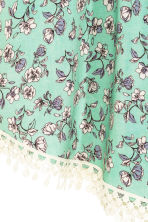 Patterned top - Green/Floral - Ladies | H&M CN 3