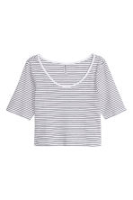 Top corto - Bianco/nero righe - DONNA | H&M IT 2