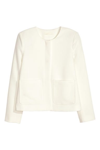 Textured jacket - White - Ladies | H&M CN 1