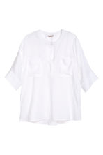 H&M+ Linen shirt - White - Ladies | H&M CN 2