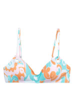 Top bikini - Turchese/albicocca fantasia - DONNA | H&M IT 2
