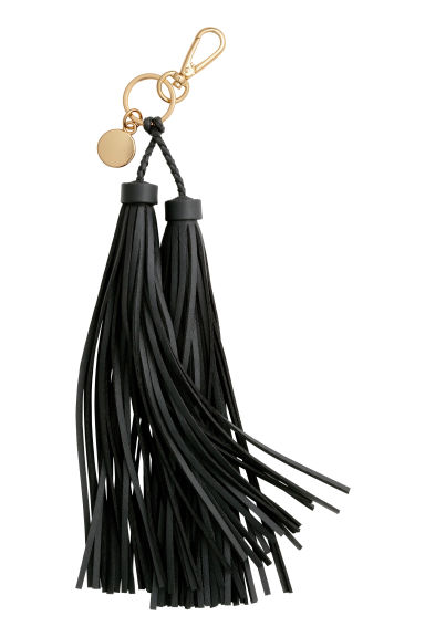 Keyring with tassels - Black - Ladies | H&M CN 1