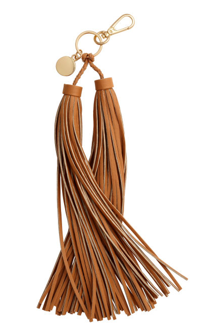 Keyring with tassels