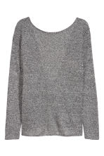 Draped top - Black marl - Ladies | H&M CN 3