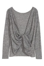 Draped top - Black marl - Ladies | H&M CN 4