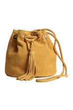 Small suede bucket bag - Mustard yellow - Ladies | H&M GB 2