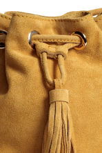 Small suede bucket bag - Mustard yellow - Ladies | H&M GB 3