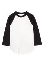 Baseball shirt - White/Black - Ladies | H&M CN 2