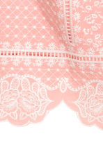Embroidered top - Pink - Ladies | H&M CN 4