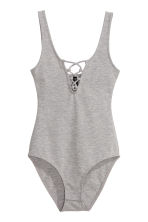 Body with lacing - Grey marl - Ladies | H&M CN 2