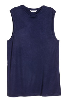 Sleeveless jersey top