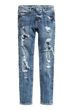 Skinny Low Trashed Jeans  - Denim blue - Men | H&M CN 2