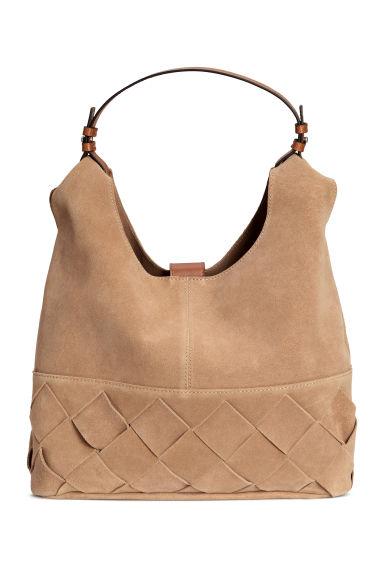 Suede hobo bag - Beige - Ladies | H&M GB 1