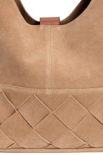 Suede hobo bag - Beige - Ladies | H&M GB 3
