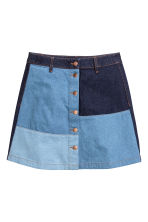 A-line denim skirt - Denim blue - Ladies | H&M GB 2