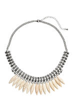 Short necklace - Silver/White - Ladies | H&M CN 1