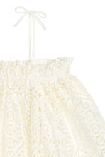 Lace off-the-shoulder blouse - White - Ladies | H&M CN 3