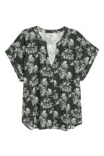 Patterned blouse - Dark green - Ladies | H&M CN 2