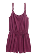 Jersey playsuit - Burgundy - Ladies | H&M CN 2