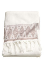 Bath towel with embroidery - White - Home All | H&M CN 2