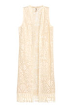 Long lace gilet - Natural white - Ladies | H&M CN 2