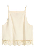 Top con bordo in pizzo - Bianco naturale - DONNA | H&M IT 2