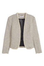 Textured jacket - Dark blue/Striped - Ladies | H&M CN 2