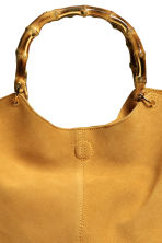 Suede shopper with clutch bag - Mustard yellow - Ladies | H&M CN 3