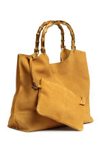 Suede shopper with clutch bag - Mustard yellow - Ladies | H&M CN 2