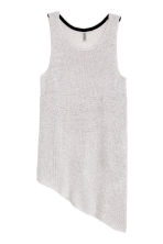 Knitted top - Light grey - Ladies | H&M CN 2