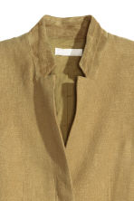 Jacket in a linen blend - Olive green - Ladies | H&M CN 3