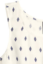 Sleeveless blouse - Natural white/Dark blue - Ladies | H&M CN 3