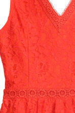 Sleeveless lace dress - Coral red - Ladies | H&M CN 3