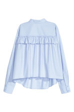 Wide blouse with a frill - Light blue - Ladies | H&M GB 3
