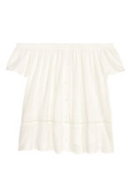Off-the-shoulder top - White - Ladies | H&M CN 2