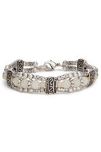 3-pack bracelets - Silver/Natural white - Ladies | H&M CN 3