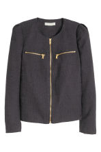 Textured jacket - Dark grey - Ladies | H&M CN 2
