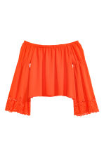 Off-the-shoulder blouse - Orange - Ladies | H&M CN 2