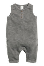 Sleeveless romper suit - Dark grey - Kids | H&M CN 1