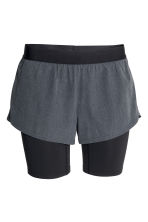 Running shorts - Dark grey/Black - Ladies | H&M CN 2