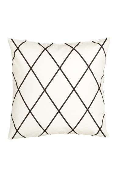 Patterned cushion cover - White - Home All | H&M GB 1