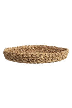 Plateau rond en paille - Naturel - Home All | H&M FR 2